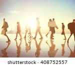 business people rush hour... | Shutterstock . vector #408752557