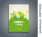 summer time card. nature... | Shutterstock .eps vector #408754333