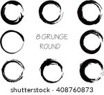 set of vector grunge circle... | Shutterstock .eps vector #408760873