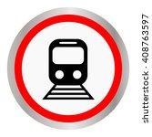 train vector icon | Shutterstock .eps vector #408763597
