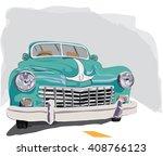 vintage retro old timer car... | Shutterstock .eps vector #408766123
