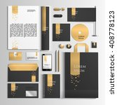 corporate identity template in... | Shutterstock .eps vector #408778123