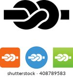rope tied in a knot icon | Shutterstock .eps vector #408789583