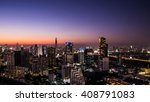 cityscape  urban and street in... | Shutterstock . vector #408791083