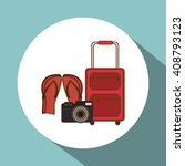 icon of vacations design ... | Shutterstock .eps vector #408793123