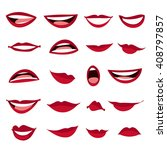 set female lips isolated on a... | Shutterstock .eps vector #408797857