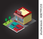 vector book store isometric | Shutterstock .eps vector #408799153