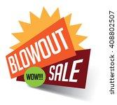 blowout sale banner burst. eps... | Shutterstock .eps vector #408802507