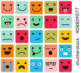 set of colorful emoticons ... | Shutterstock .eps vector #408809077