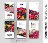 abstract vector brochure... | Shutterstock .eps vector #408843043