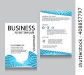vector brochure flyer design... | Shutterstock .eps vector #408857797