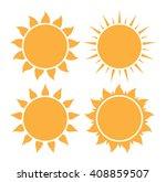 set of sun icon | Shutterstock .eps vector #408859507