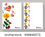 greeting cards with abstract... | Shutterstock .eps vector #408868573