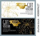 vector gift voucher template... | Shutterstock .eps vector #408889627