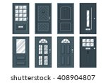 set of detailed front doors for ... | Shutterstock .eps vector #408904807