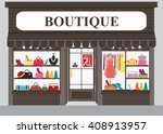 clothing store building and... | Shutterstock .eps vector #408913957