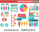 collection of infographic... | Shutterstock .eps vector #408923353