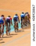 bike race on velodrome track... | Shutterstock . vector #408928867