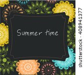 summer time pattern. ornamental ... | Shutterstock .eps vector #408941377
