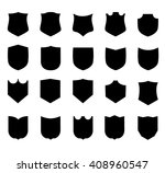vector shield set | Shutterstock .eps vector #408960547