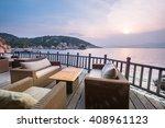 sunset over a beautiful  clean... | Shutterstock . vector #408961123