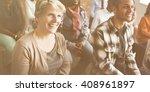 team seminar listening...   Shutterstock . vector #408961897