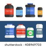 bodybuilding sport food. sports ... | Shutterstock .eps vector #408969703