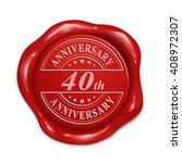 40th anniversary 3d... | Shutterstock .eps vector #408972307