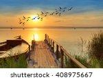 boat in the lake | Shutterstock . vector #408975667