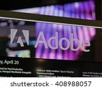 Small photo of LAS VEGAS, NV - Adobe booth at NAB 2016, an annual trade show by the National Association of Broadcasters.1700+ exhibitors on 2000000 sq feet space of Las Vegas Convention Center.