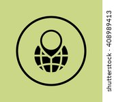 ecology globe sign icon on... | Shutterstock .eps vector #408989413