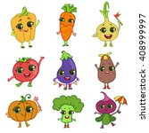 vegetables illustration set of...   Shutterstock .eps vector #408999997