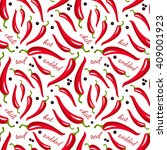 vector red hot chili peppers... | Shutterstock .eps vector #409001923