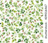 watercolor floral pattern....   Shutterstock . vector #409016467