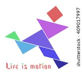 """running man with text """"life is... 