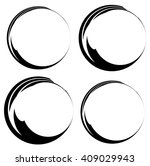grungy ink  tint circles. set... | Shutterstock .eps vector #409029943
