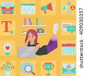 successful creative cute...   Shutterstock .eps vector #409030357