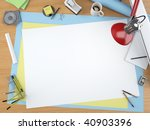 top view of a designer drawing... | Shutterstock . vector #40903396