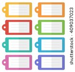 colorful flat design tags set ... | Shutterstock .eps vector #409037023