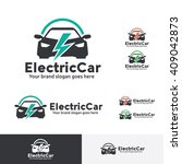 electric car logo template | Shutterstock .eps vector #409042873