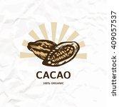 cacao design. cacao logo. cacao ... | Shutterstock .eps vector #409057537