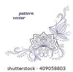 vector pattern  ornament. for... | Shutterstock .eps vector #409058803