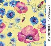 beautiful floral seamless... | Shutterstock . vector #409061227