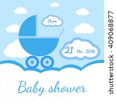 baby shower boy invitation | Shutterstock .eps vector #409068877