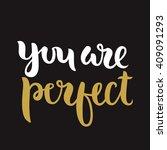 vector calligraphy. hand drawn... | Shutterstock .eps vector #409091293