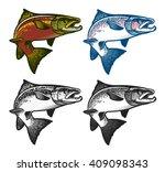 salmon fish   vector... | Shutterstock .eps vector #409098343