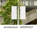 large blank billboard on a... | Shutterstock . vector #409099327