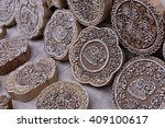 indian wood carving printing...   Shutterstock . vector #409100617