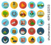 farm  gardening 25 flat icons... | Shutterstock . vector #409110253