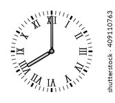 clock dial with roman numerals. ... | Shutterstock .eps vector #409110763